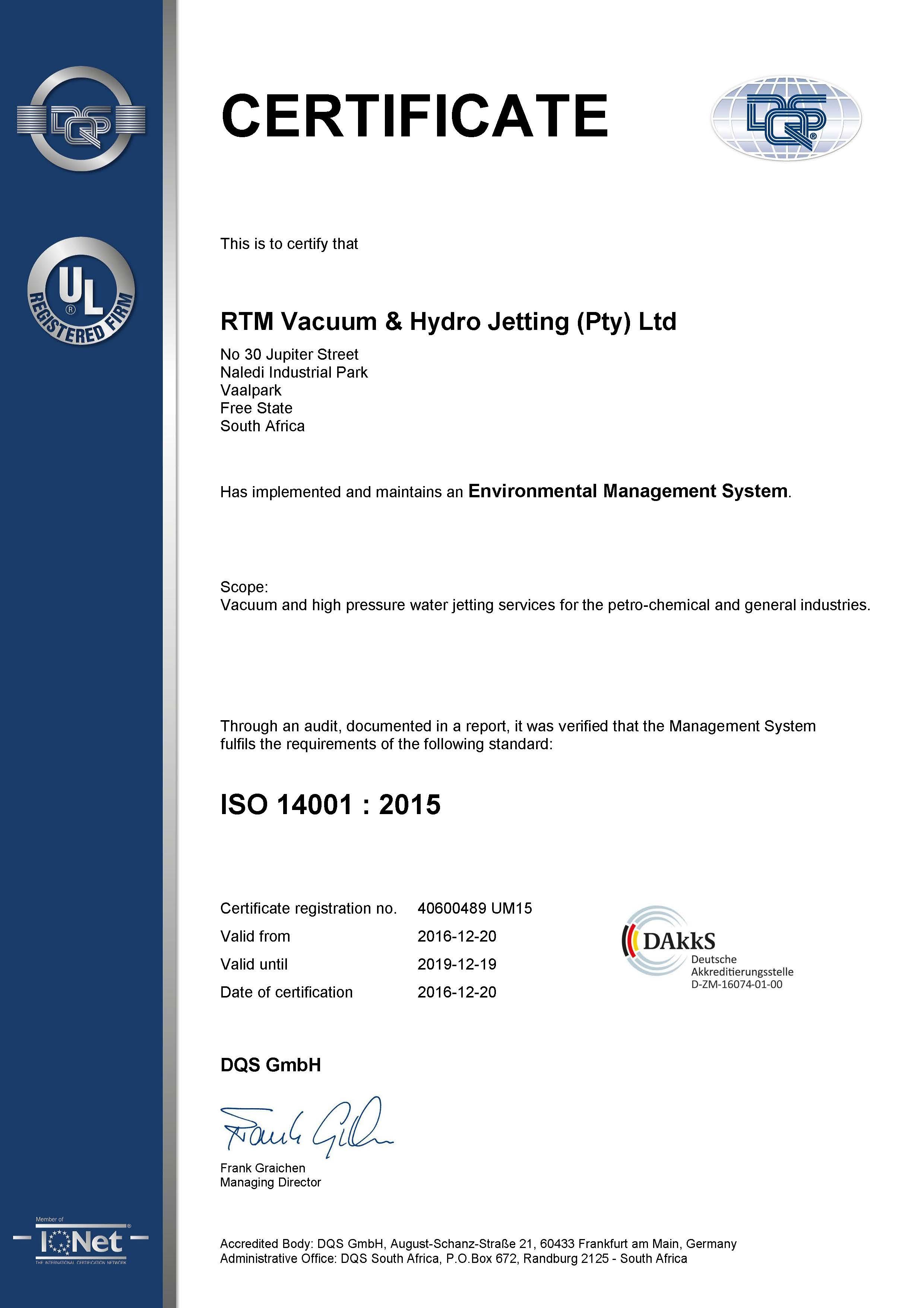Certificates Rtm